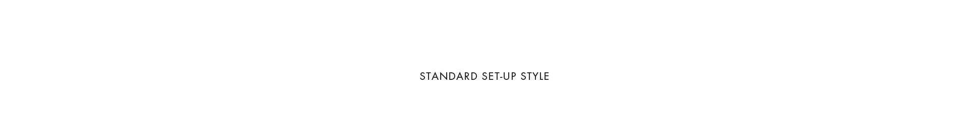 STANDARD SET-UP STYLE