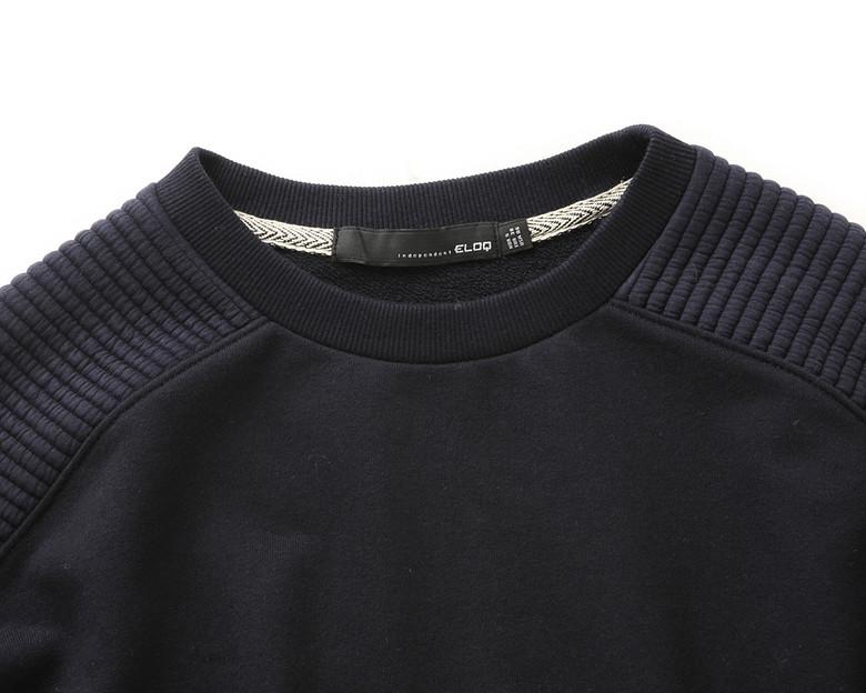 엘록(ELOQ) [ELOQ]_E148MST162W_(여) 퀼팅 패치 스웨트 셔츠