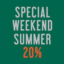 Special Weekend 20% SALE