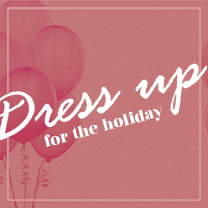 Dress up for the holiday