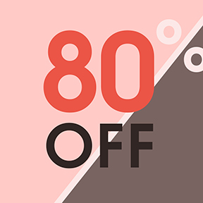 Don't Miss Out !  한정수량 ~ 80%